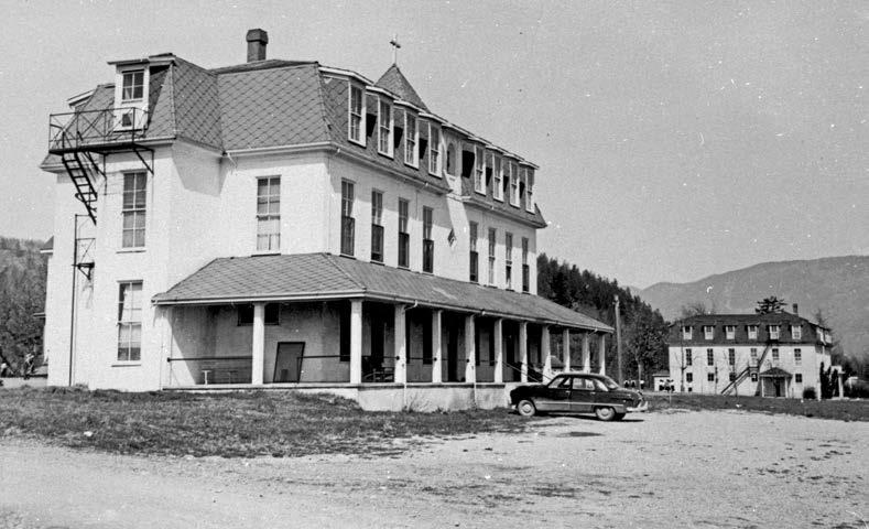 The Mission, British Columbia, school opened in the early 1860s and remained in operation until 1984. Mission Community Archives.