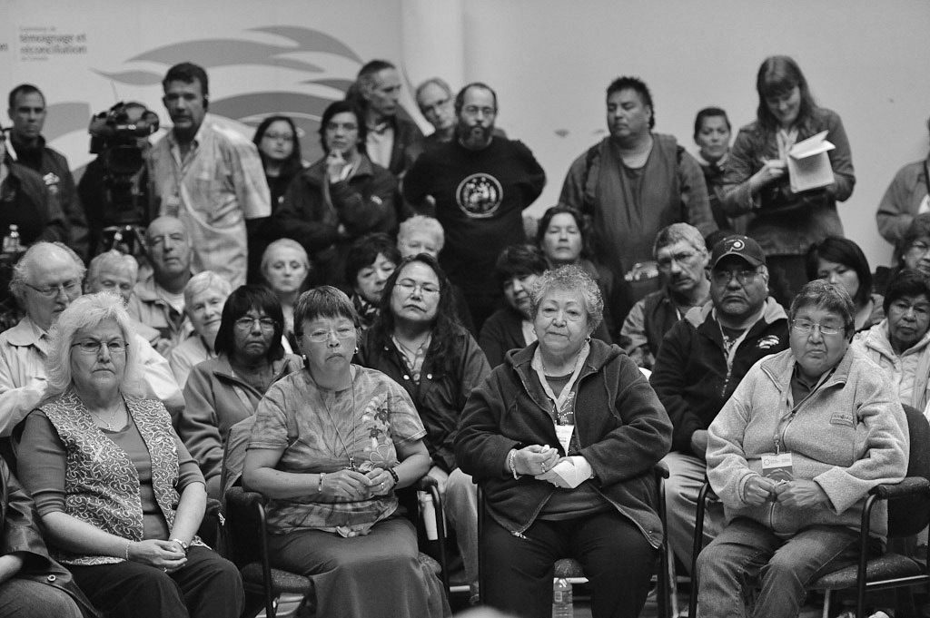 Survivors' Sharing Circle at Truth and Reconciliation Commission Manitoba National Event, June 2010.