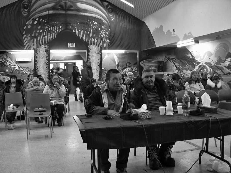 The Kuujjuaq community hearing, Nunavik, March 2011. Photo credit: Piita Irniq.