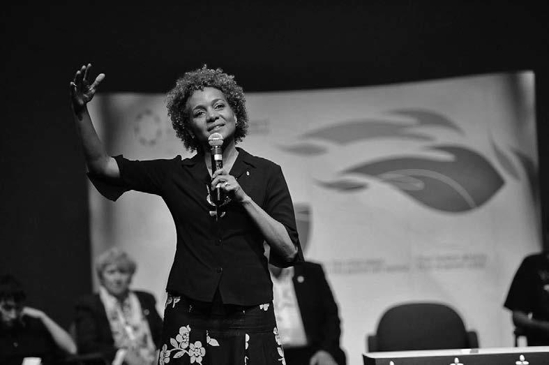 Her Excellency, the Honorable Michaëlle Jean at the Winnipeg National Event, June 2010.
