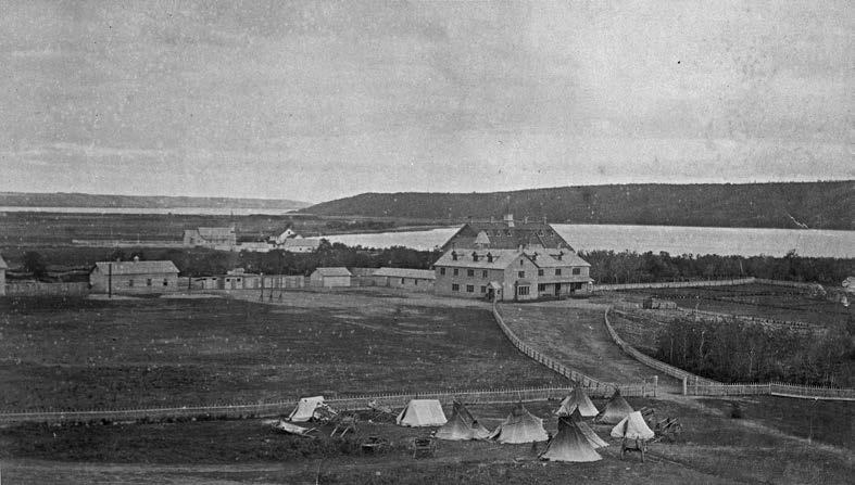 The Qu'Appelle school at Lebret in what is now Saskatchewan opened in 1884. O.B. Buell, Library and Archives Canada, PA-182246.